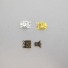 50 Fermoirs cliquet 10x15mm 3 anneaux