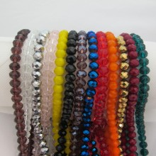 Glass faceted beads10mm-Wire of 50cm
