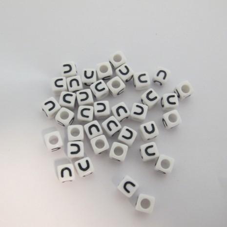 500gm cube en plastique 7mm lettres U