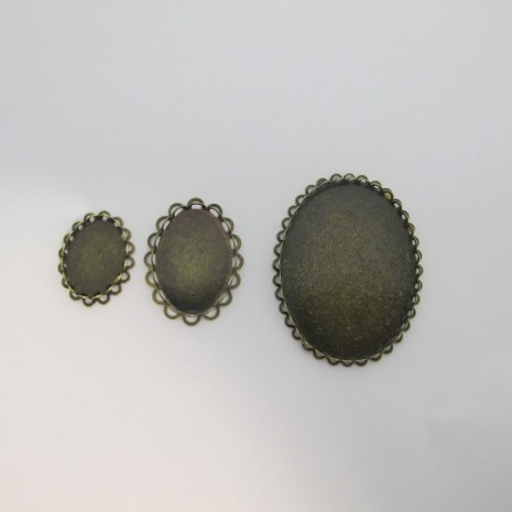 Support cabochon 13x18mm/18x25mm/30x40mm