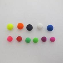 125gm perles en plastique mat 8mm/10mm