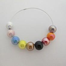 50 perles rondes en Céramique 8mm/10mm/12mm