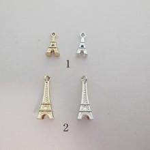 50 Metal Tower Pendant 16x7mm/25x9mm