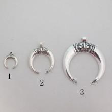 Metal Pendant Horns 15x19mm/28x34mm/45x51mm