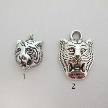 20 Metal Tiger Head Pendant 14x18mm/17x24mm