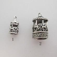 Metal Carousel Pendant 21x10mm/29x17mm
