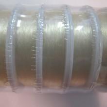 12 bobines Fil de nylon élastique 0.35mm transparent x100m