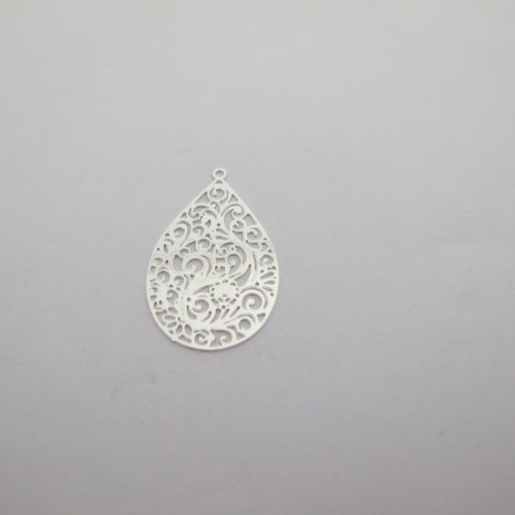 50 Estampe goutte laser cut 30x19mm