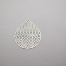 50 Estampe goutte laser cut 40x28mm