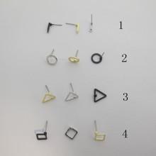 50 pieces Boucles d'oreilles tiges