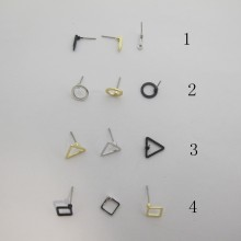 50 pieces Earrings stems