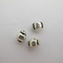50 Metal Beads 11x9mm