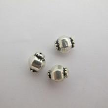 50 perles Métal 11x9mm