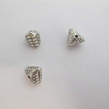 50 perles Métal 11x8mm