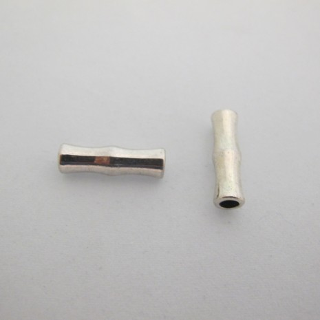 Perle en métal tube 22x7 mm