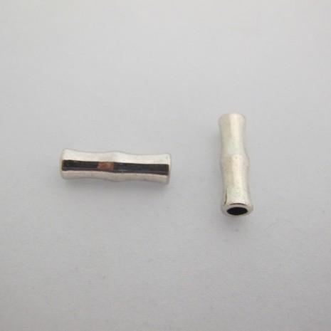 20 Perle en métal tube 22x7 mm