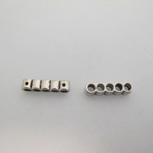 20 Metal dividers 5 holes 22x5mm