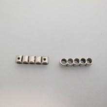 20 Intercalaires metal 5 trous 22x5mm