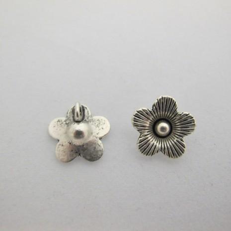 50 Fleurs Crochet metal 14mm