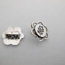 25  Intercalaires Fleurs  metal 2 trous 16mmmm