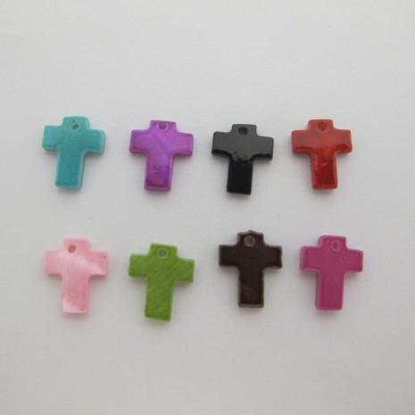 50 Sequins Croix Nacre 12x11mm