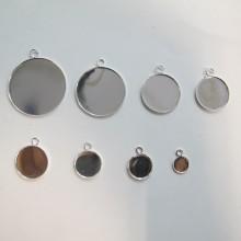 50 pieces Round cabochon holder 8/10/12/14/16/18/20/30mm