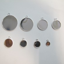 50 pieces Support cabochon rond 8/10/12/14/16/18/20/30mm