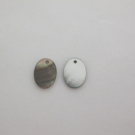 24 Sequins Ovale Nacre16x13mm