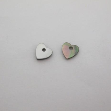 24 Sequins coeur en Nacre 8mm