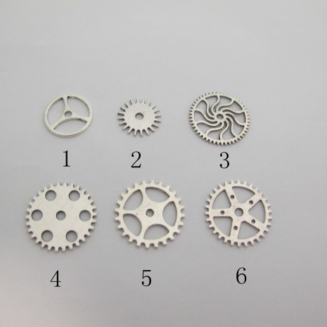 50 Intercalaires roue dentée Métal