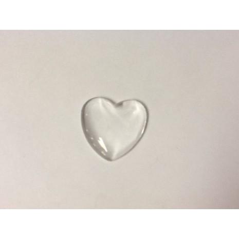 Carbochons transparents forme cœur