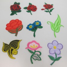 9 Textile patch Flowers 50mm to 100mm Approx
