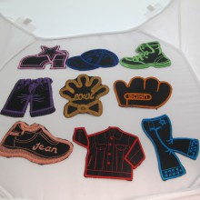 9 Textile patch clothes 50mm to 120mm approx