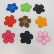 9 Textile patch Flowers 45mm Approx