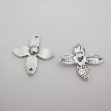 20 Spacers Metal Flowers 36x32mm