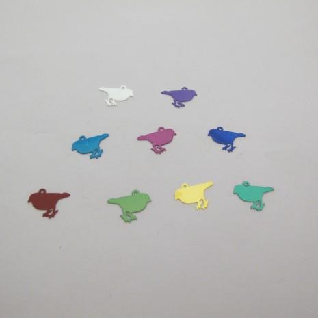 100 Estampe oiseaux laser cut 12x8mm