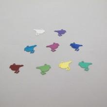 100 Laser cut birds stamp 12x8mm