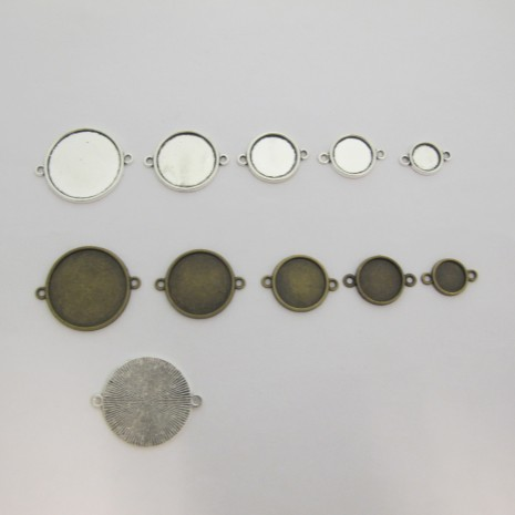 Support intercalaire cabochon 10mm/14mm/16mm/20mm/25mm
