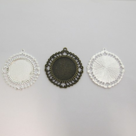 10 Support cabochon 30mm