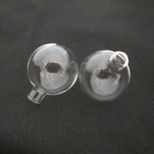 20 Blown Glass Ball 30x25mm Round