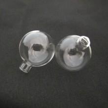 20 Boule en verre soufflé 30x25mm Round