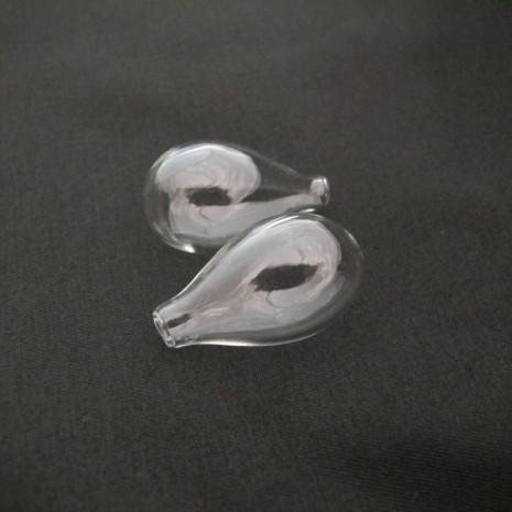 20 Boule en verre soufflé 31x18mm Poires