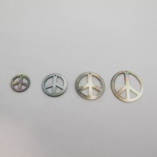 24 Paillettes Peace and Love Nacre grise 13mm/17mm/20mm/24mm