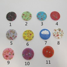 50 Boutons synthétiques 23mm