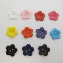 50 Boutons Fleurs synthétiques 18mm