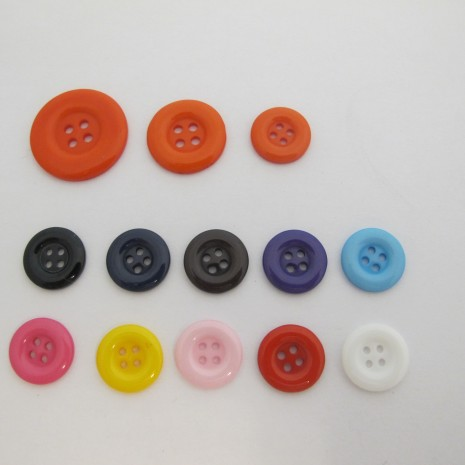50 Boutons ronde Synthétiques 15mm/20mm/25mm