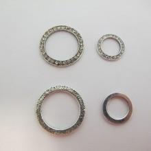 Intercalaires anneaux avec strasse Metal 18mm/28mm
