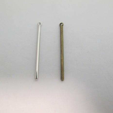 30 Pendentif Métal barre 41x3mm
