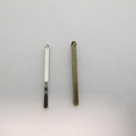 30 Pendentif Métal 32x3mm
