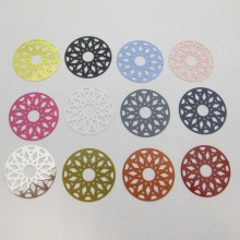 20 Round Laser Cut Stamps 33mm